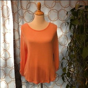 Almost Famous Peach / Pink Sweater Large NWT